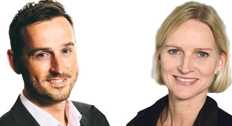 Thomas Woldiderich, chefkonsulent, Dansk Energi og Karen Nielsen, salgsdirektør, KMD