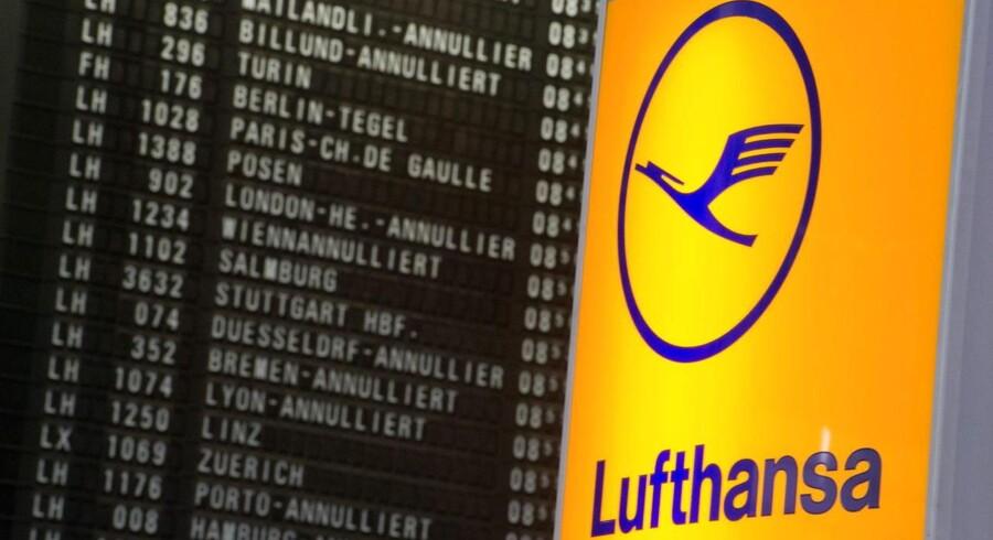 Piloterne i Lufthansa fortsætter strejken onsdag, og det rammer 1.000 afgange i flyselskabet.