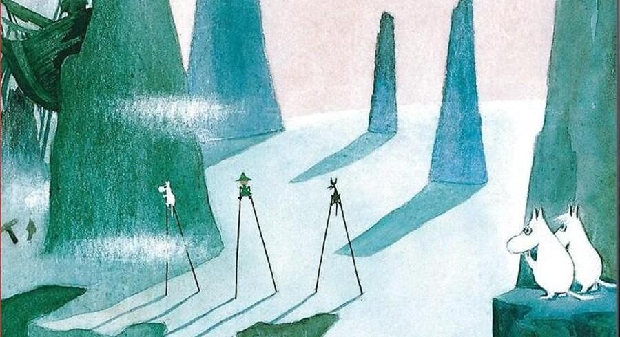 Omslaget til Tove Janssons »Kometen kommer«.