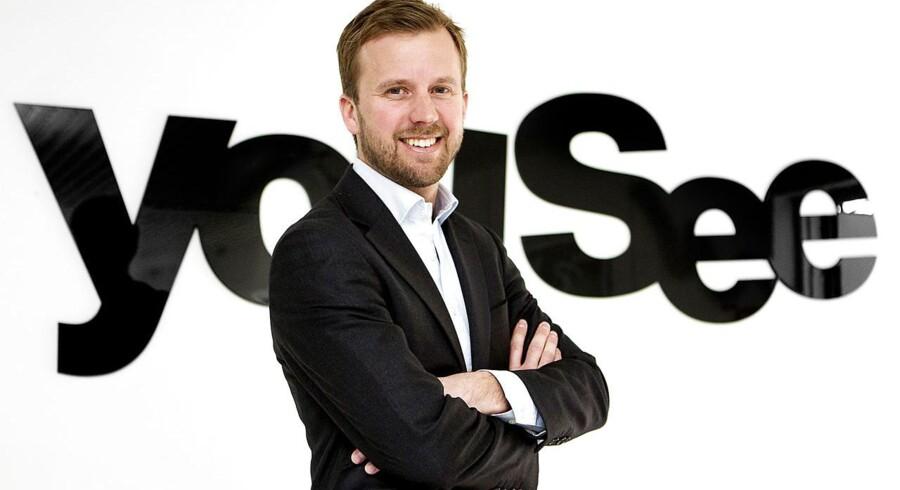 YouSees direktør, Mathias Berg, gør klar til også at lade danskerne blande selv på mobilområdet. Hvilke bolcher han får på hylden, er dog endnu en hemmelighed. Foto: Nils Meilvang