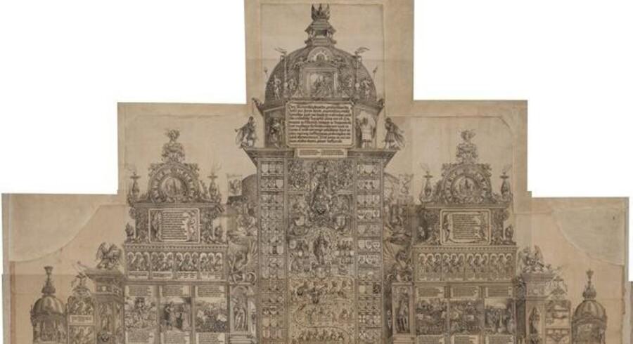 På Statens Museum for Kunst kan man se en særudstilling om Albrecht Dürers grafiske æresport for Kejser Maximilian