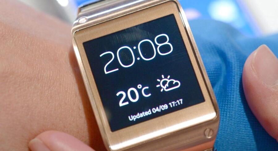 Samsung's nye »Galaxy Gear« smartwatch blev præsenteret onsdag forud for gadgetmessen IFA, der begynder fredag.
