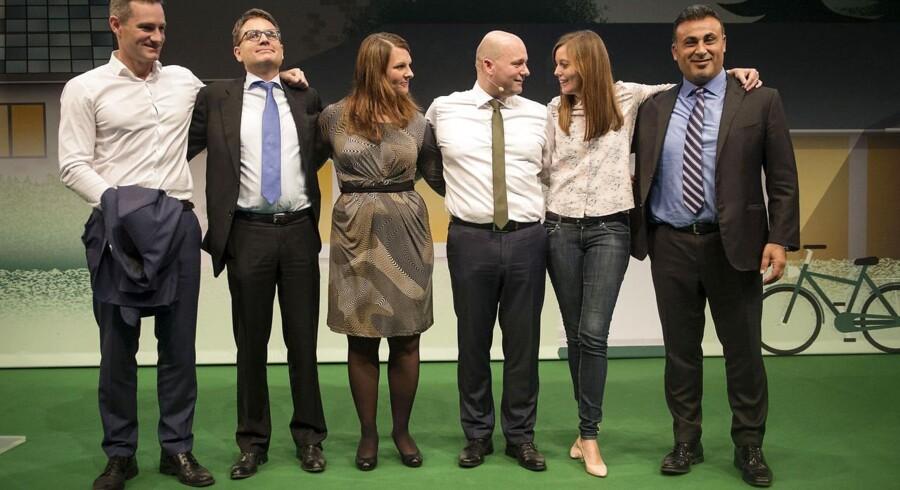 De konservatives folketingsgrupper, fra venstre er det Rasmus Jarlov, Brian Mikkelsen, Mette Abildgaard, Søren Pape Poulsen, Mai Mercado og Naser Khader.