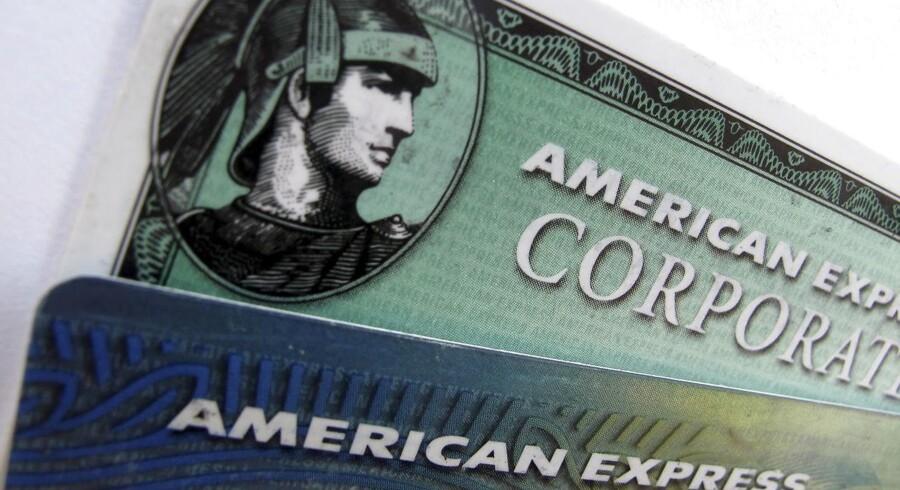 Den amerikanske finanskoncern American Express overraskede positivt i regnskabet for første kvartal som blev offentliggjort efter børstid onsdag. (REUTERS/Mike Blake/Files)