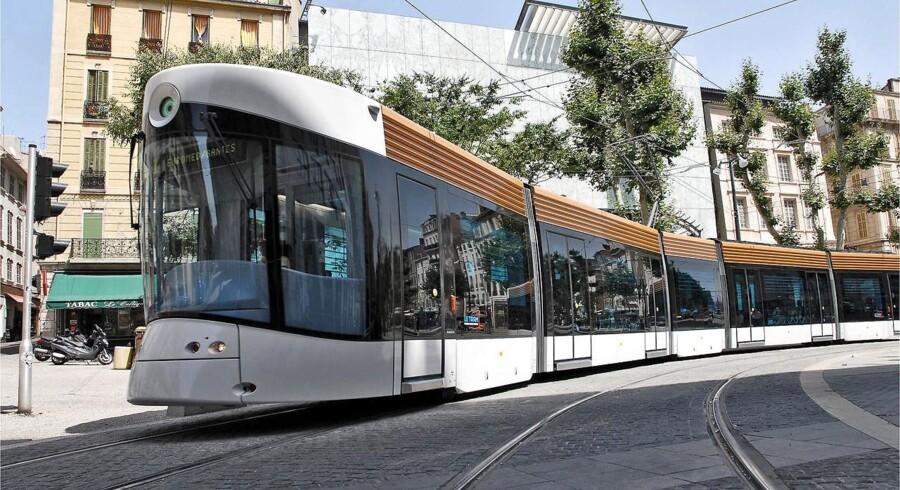 Sådan ser letbanetogene ud i Portugal.