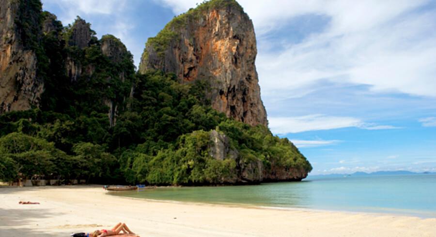 Krabi er smuk strand, flotte klipper og - indtil nu - færre turister end på Phuket.