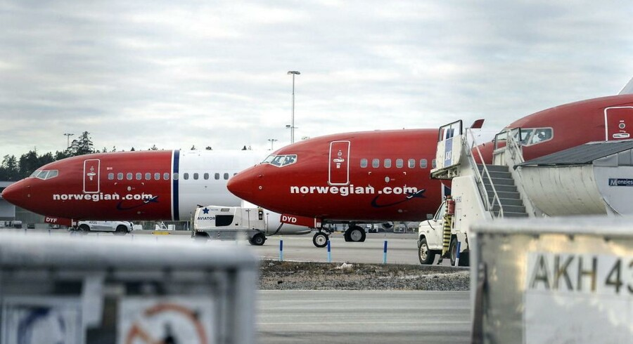 Norwegian-fly holder stille i Københavns Lufthavn Kastrup. Piloterne strejker.