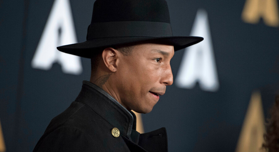Recording artist Pharrell Williams attends the 8th Annual Governors Awards hosted by the Academy of Motion Picture Arts and Sciences on November 12, 2016, at the Hollywood & Highland Center in Hollywood, California. The Academy's Board of Governors is presenting Honorary Oscar Awards to actor Jackie Chan, film editor Anne Coates, casting director Lynn Stalmaster and documentary filmaker Frederick Wiseman. Valerie Macon / AFP