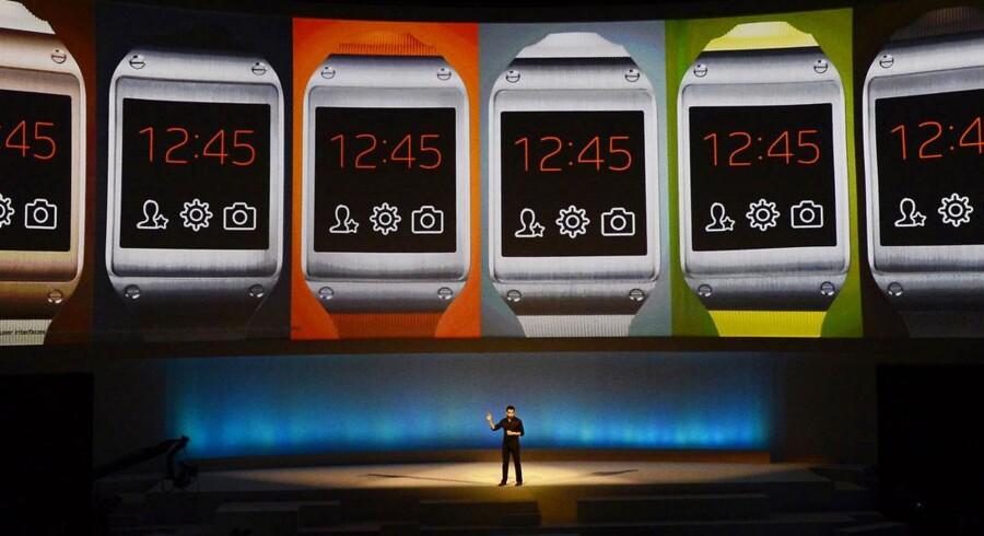 Syndkoreanske Samsung præsenterede i slutningen af august det ventede smartwatch Galaxy Gear. Arkivfoto: John Macdougall / AFP / Scanpix