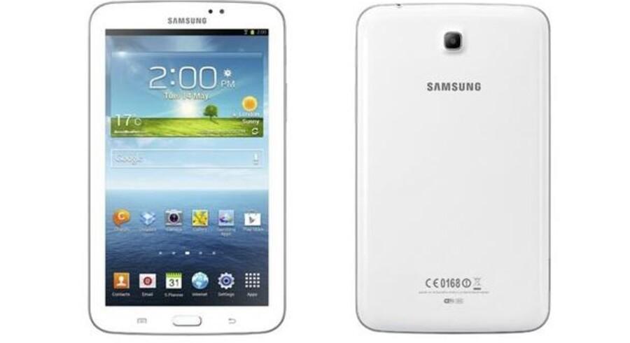 Den teknologiske indmad i Galaxy Tab 3 har store ligheder med forgængeren, men Samsungs nyeste tavle-PC er blevet lettere og tyndere og har fået opfrisket sit design. Foto: Samsung