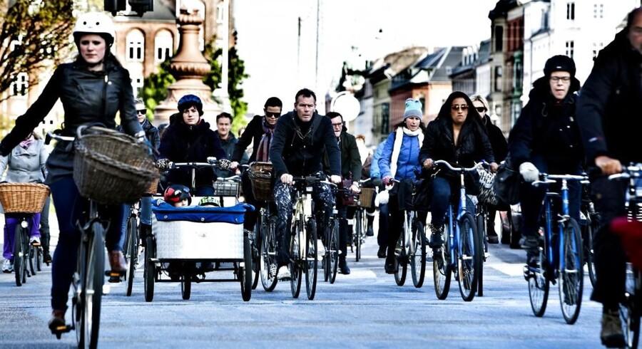 ARKIVFOTO. Flere og flere københavnere vælger cyklen.