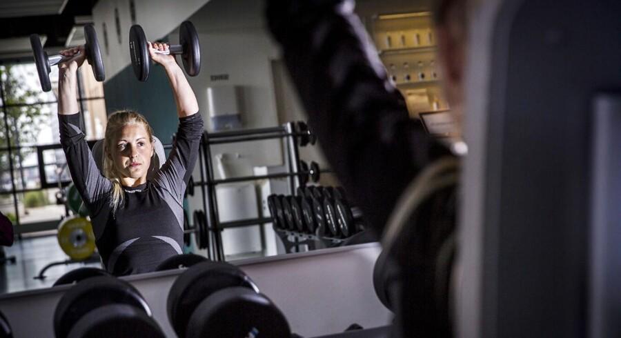 Rebecca von Pein supertræner og passer på kosten. Hun har været nede på 44 kilo. Nu vejer hun 56 og vil gerne ned på de 50.