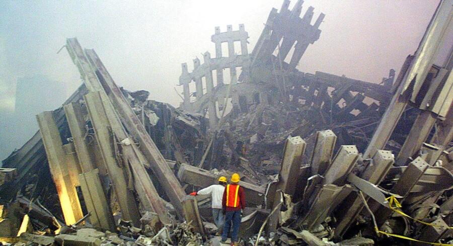 Ground Zero under oprydningsarbejdet efter 11. september 2001.