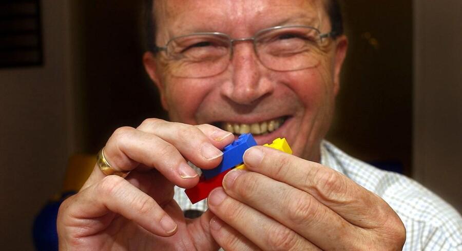 Kjeld Kirk Kristiansen, hovedaktionær og bestyrelsesformand i pengetanken Kirkbi, der ejer LEGO, Kjeld Kirk Kristiansen med legoklodser.