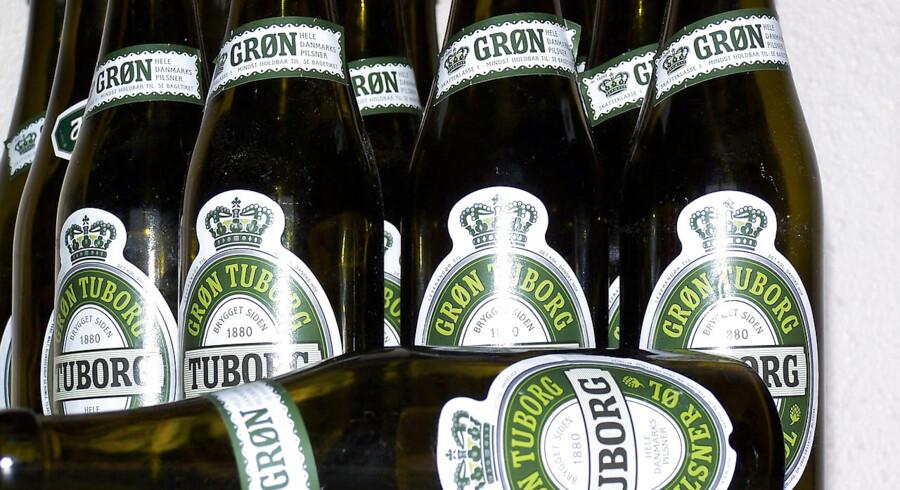 Tomme ølflasker....
