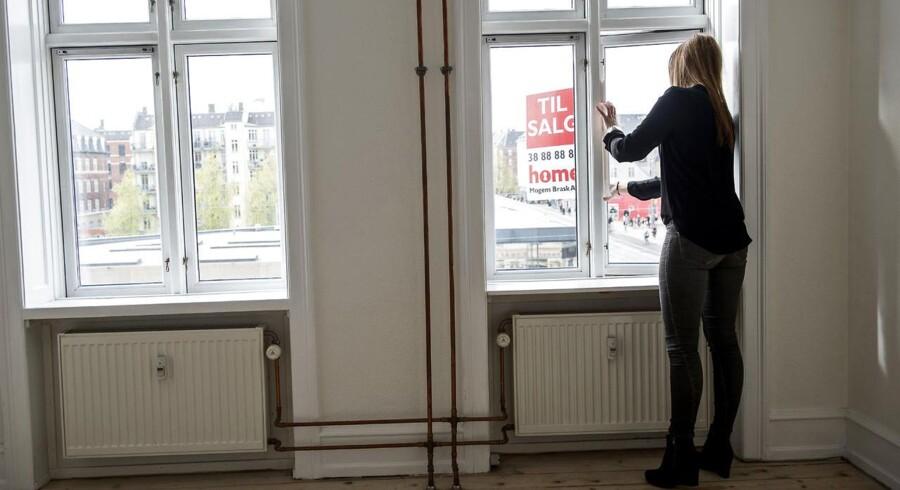 Antallet af små ejerlejligheder under 75 kvadratmeter er reduceret med en fjerdedel det seneste år, viser en opgørelser fra Realkreditrådet. Arkivfoto