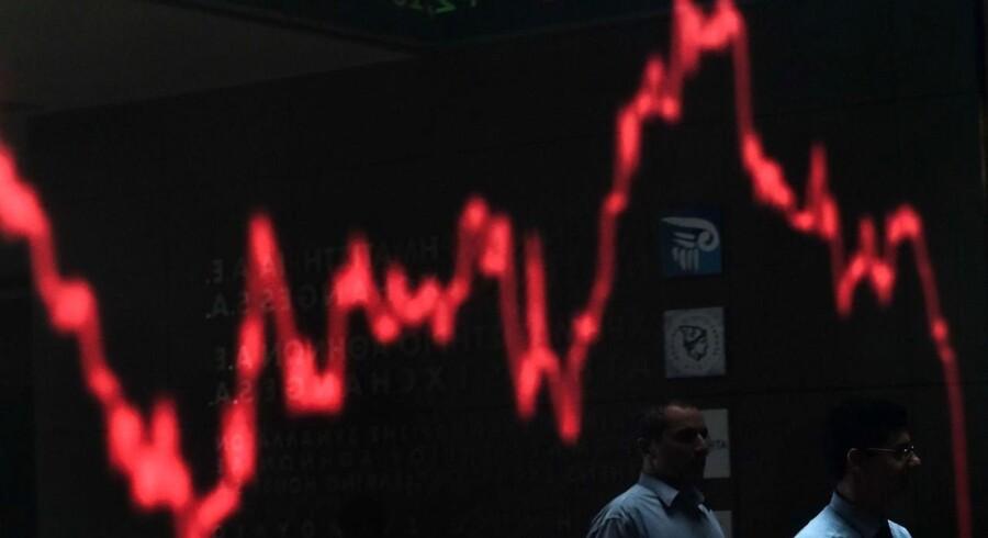 De europæiske børser står til massive fald mandag morgen.