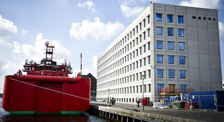 Serviceskibet Esvagt Aurora ved Esplanaden i Københavns Havn.