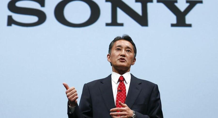 Topchef Kazuo Hirai kæmper fortsat for at bringe Sony-koncernen på fode igen. Nu skal der igen fyres medarbejdere og sælges fra. Foto: Kimimasa Mayama, EPA/Scanpix