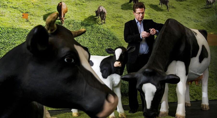 Peder Tuborgh direktør for ARLA tweeter hele dagen om sin hverdag som topchef. Foto: Søren Bidstrup/Scanpix 2013