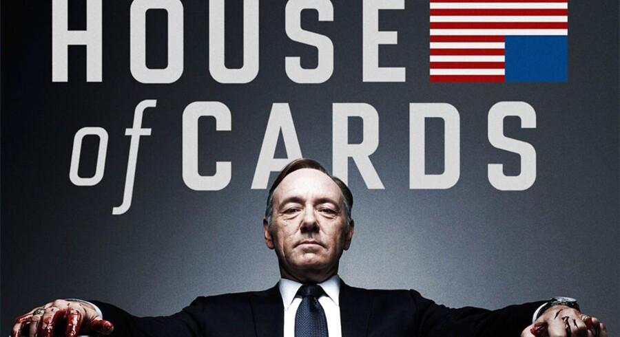 Kevin Spacey spiller magtsyg, amerikansk toppolitiker i serien »House of Cards«, der er den mest sete serie på Netlix.