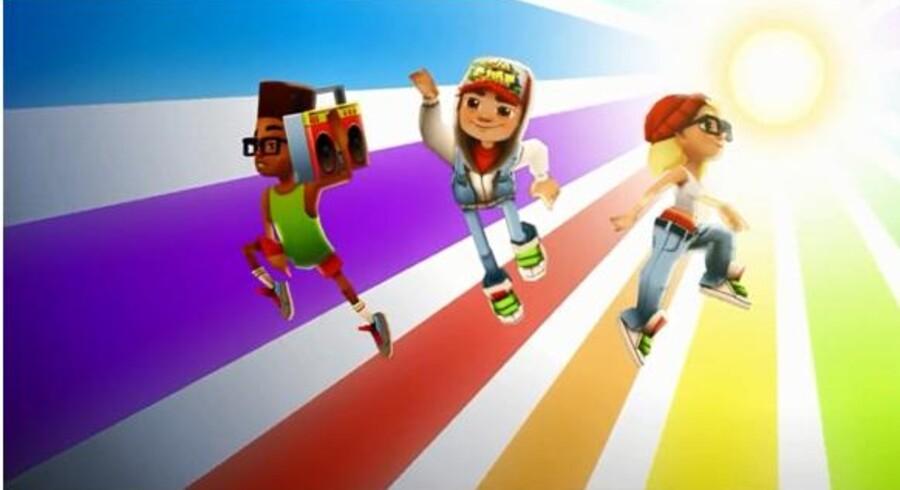 Flugtspillet Subway Surfers er blevet en af den danske app-industris største succeser.