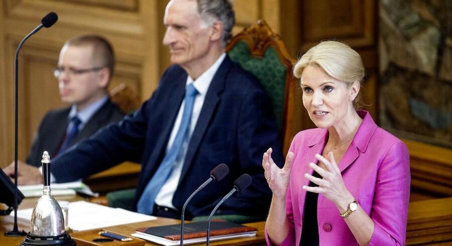 Statsminister Helle Thorning-Schmidt på Folketingets talerstol. Læs her, hvad hun sagde.