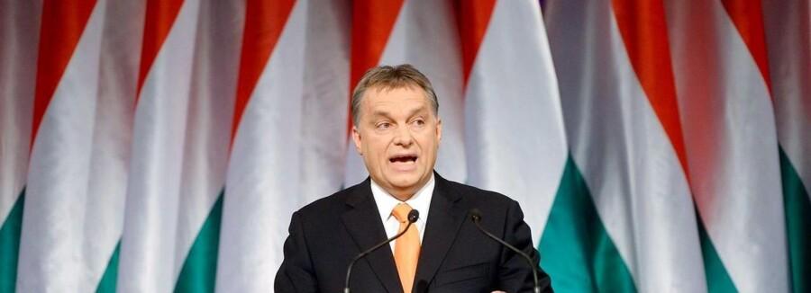 Arkivfoto. Ungarns premierminister Viktor Orban er favorit til at vinde søndagens valg.