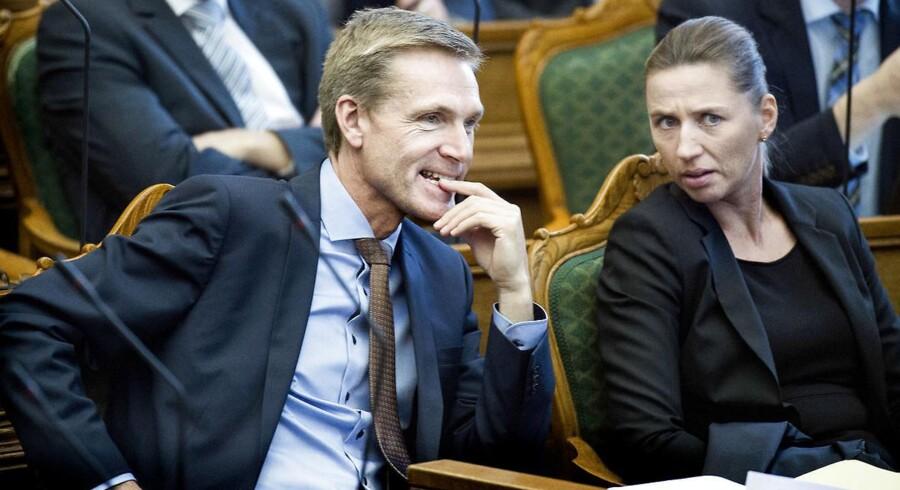 Mette Frederiksen(S) og Kristian Thulesen-Dahl er åbne for at danne regering sammen. Ny måling viser, at DFs vælgere bakker op om det nye samarbejde.