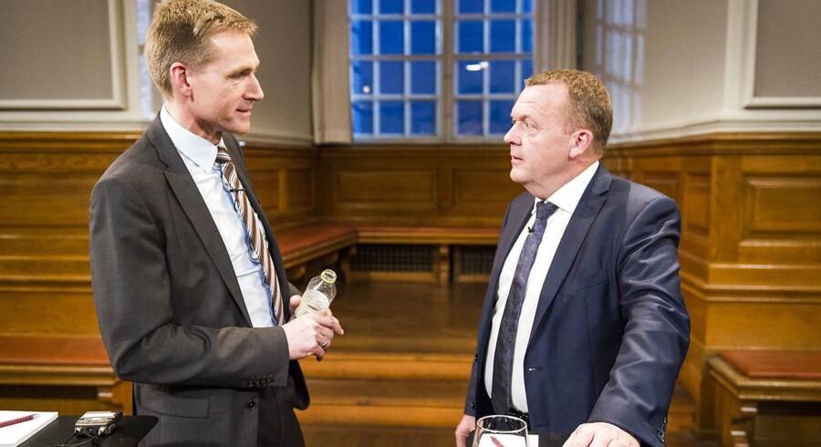Kristian Thulesen Dahl formand for Dansk Folkeparti og statsminister Lars Løkke Rasmussen.