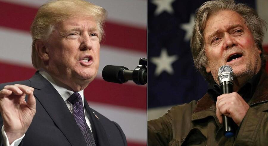 Trumps tidligere rådgiver, Steve Bannon, trækker i land vedrørende kritiske udtalelser om præsidenten. Arkivfoto.