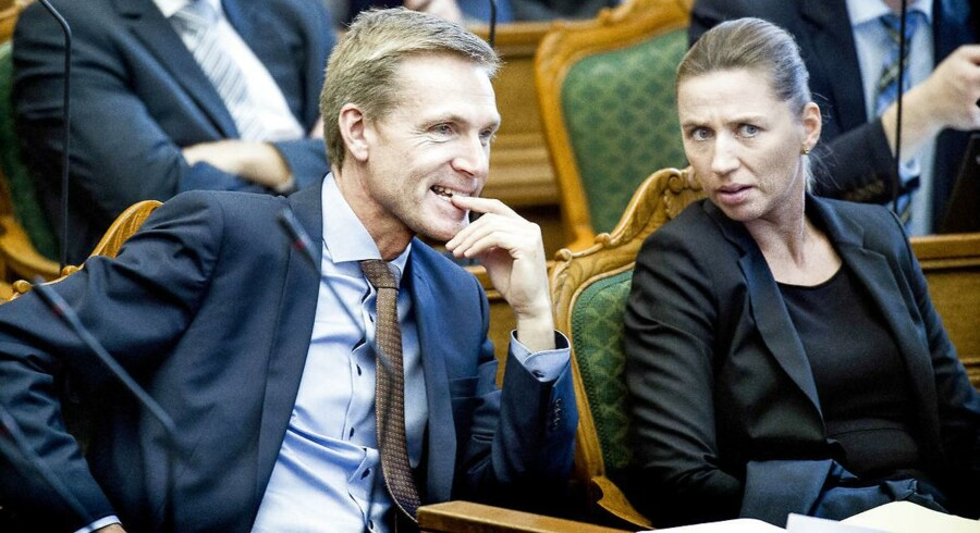 Kristian Thulesen Dahl og Mette Frederiksen - nu slår det nye magtfulde makkerpar til igen og sætter regeringen under hårdt pres.
