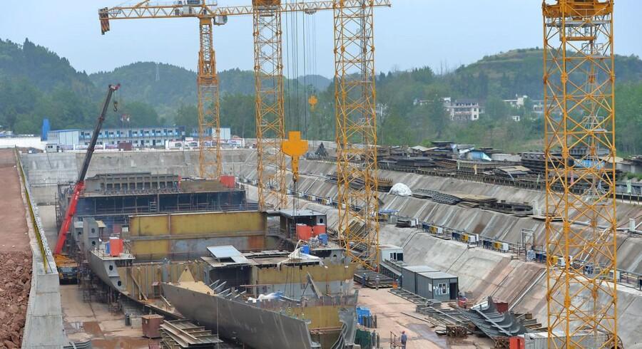 Arbejdet er i fuld gang for at få Titanic-kopien færdig i Sichuan-provinsen.