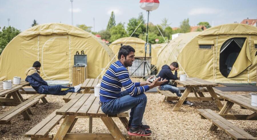 Arkivfoto. Danmark modtog sidste år langt færre flygtninge end ventet. Det medførte en besparelse på mindst 400 mio. kr., som regeringen og oppositionen nu strides om. (Foto: Ólafur Steinar Gestsson/Scanpix 2016)