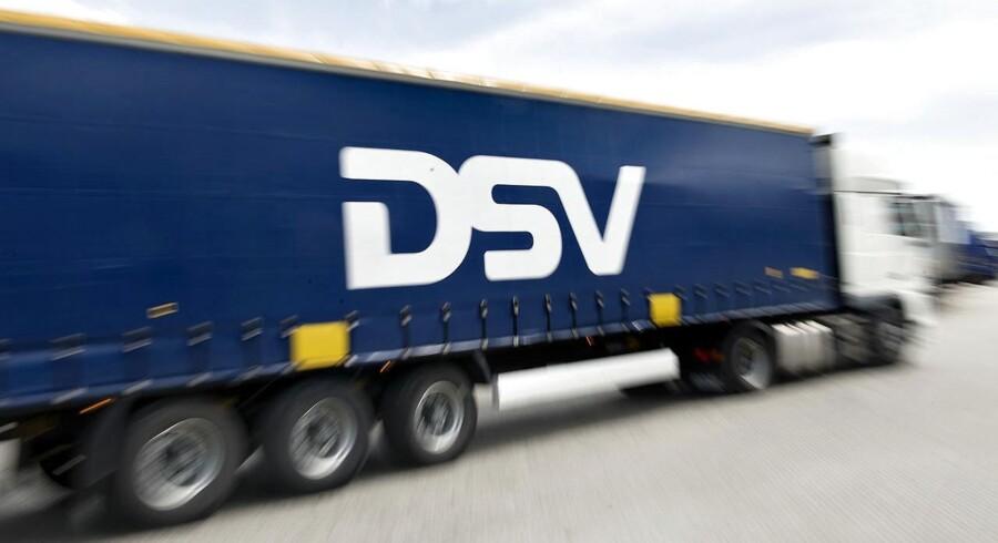 -Arkiv- SE RITZAU Transportkæmpen DSV leverer regnskab Logistik- og transportselskaber DSV lægger tallene for første halvår frem klokken 08:00 onsdag morgen. DSV lastbiler.. (Foto: Keld Navntoft/Scanpix 2017)