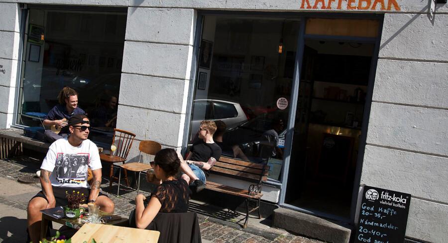 Kaffebaren »Vi Mødes Gennem Ruden« på Heimdalsgade på Nørrebro.