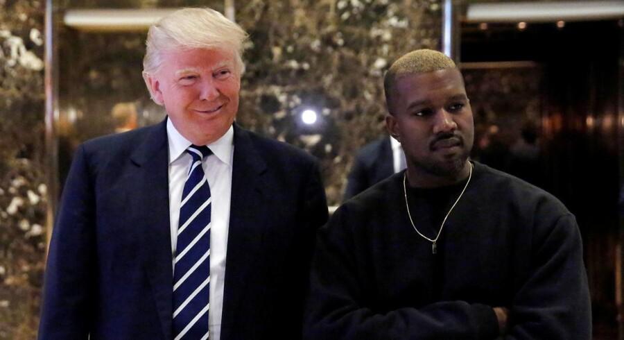 Den kommende amerikanske præsident, Donald Trump, og rapperen Kanye West mødtes tirsdag i Trump Tower i New York.