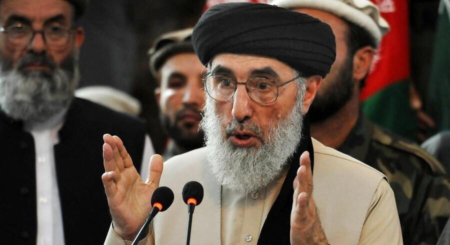 Arkivfoto: Den tidligere afghanske krigsherre Gulbuddin Hekmatyar