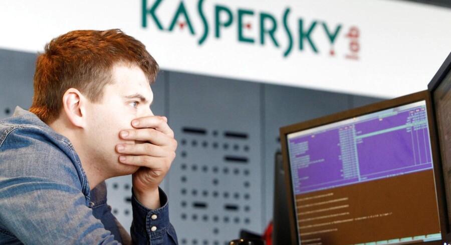 Det russiske IT-sikkerhedsfirma Kaspersky Labs software er efter flere måneders disput nu blevet forbudt af USAs myndigheder. Arkivfoto: Sergei Karpukhin, Reuters/Scanpix