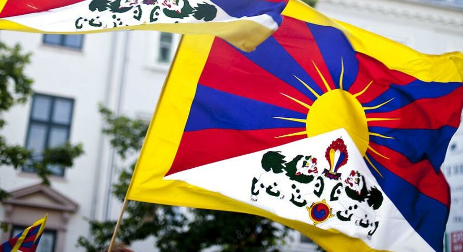 (ARKIV) Demonstration mod Kinas menneskerettighedsovertrædelser over for Tibet, Free Tibet, på Højbro Plads i København fredag d. 15. juni 2012.