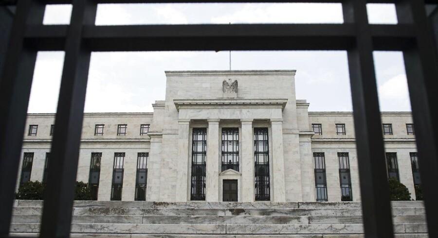 Arkivfoto. Der er fortsat udsigt gradvise rentestigninger fra den amerikanske centralbank