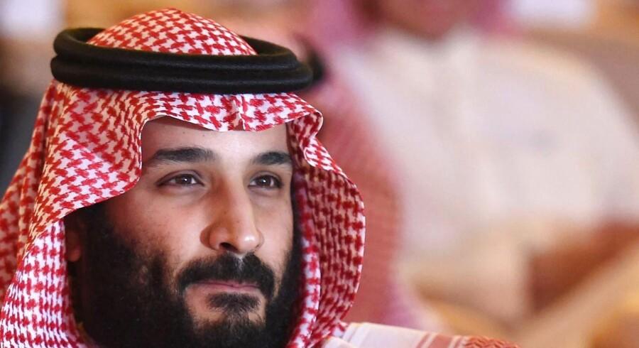 (FILES) Reformator eller magtsyg? Saudi-Arabiens kronprins Muhammed Bin Salman står i spidsen for en række reformtiltag, men han står også bag weekendens arrestation af op til 70 indflydelsesrige saudiere. 24. oktober 2017 / AFP PHOTO / FAYEZ NURELDINE