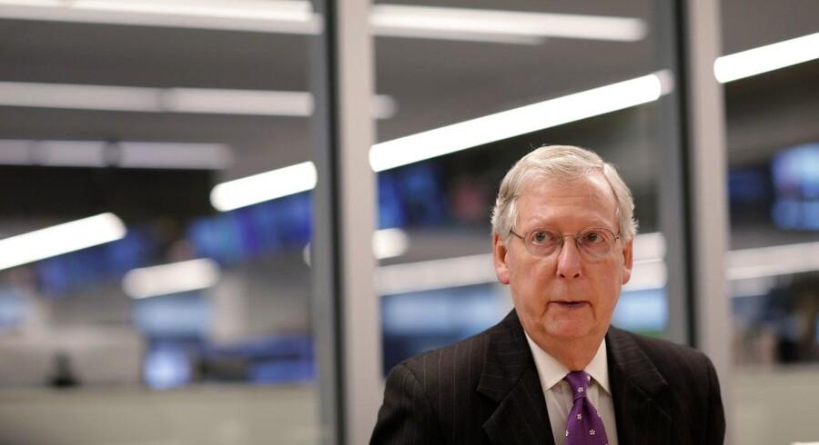 Senatets flertalsleder, Mitch McConnell.
