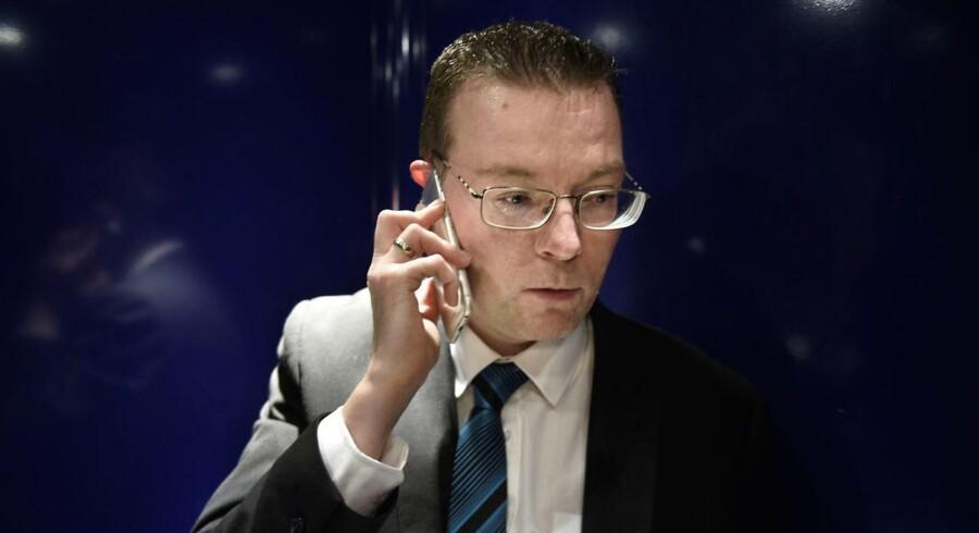 Danskerne skal stemme om at gå med i EU's bankunion, mener DF's EU-ordfører Kenneth Kristensen Berth. (Foto: NIELS AHLMANN OLESEN/Scanpix 2016)