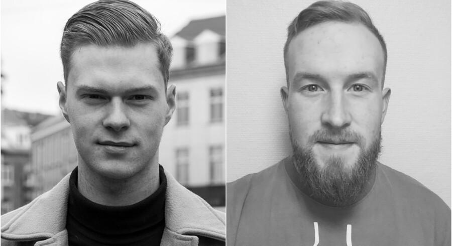 De to brødre, Michael Lauritsen (tv.) og Jan Lauritsen (th.) er stiftere af organisationen Pulterkammerets Aktivister, som på Facebook sladrer til forældre, hvis deres børn videredeler nøgenbilleder og -film uden samtykke.