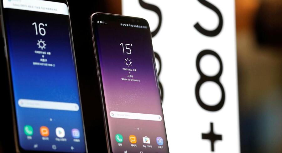 Oven på de massive problemer med Galaxy Note 7-telefonen, der eksploderede, er Samsung kommet hurtigt tilbage i front med toptelefonerne Galaxy S8 og S8+ (billedet). Efter sommerferien kommer Galaxy Note 8. Arkivfoto: Kim Hong-Ji, Reuters/Scanpix