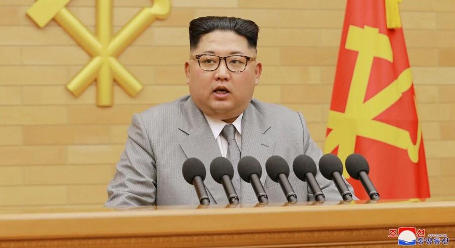 Den nordkoreanske leder Kim Jong Un