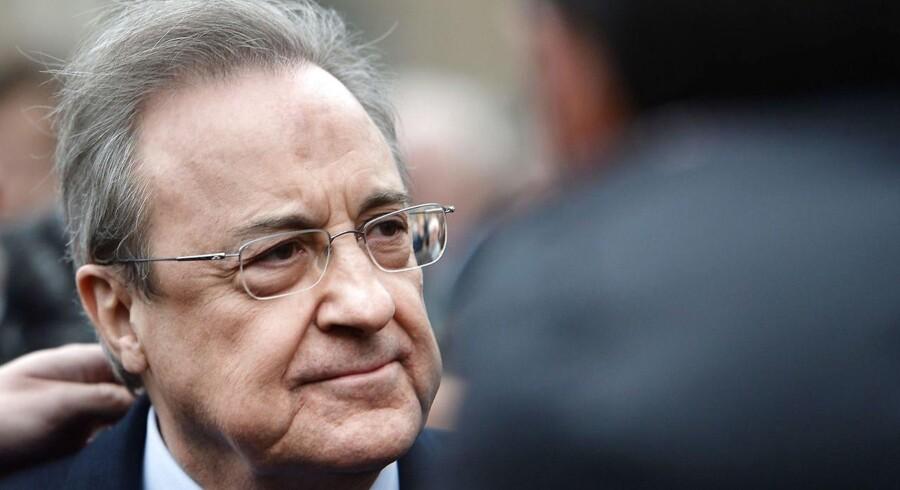 Arkivfoto. Real Madrids præsident, Florentino Pérez, er bekymret over den politiske situation i Spanien, fortæller han.