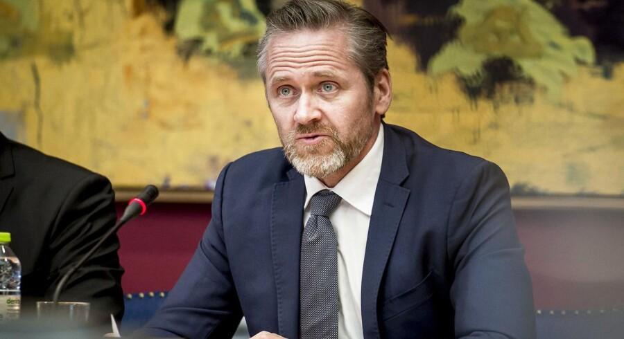 ARKIVFOTO: Udenrigsminister Anders Samuelsen (LA) under samrådet på Christiansborg i København, hvor udenrigsudvalget har kaldt udenrigsminister Anders Samuelsen (LA) i samråd om tyrkisk overvågning af borgere i Danmark, torsdag den 15. marts 2018.