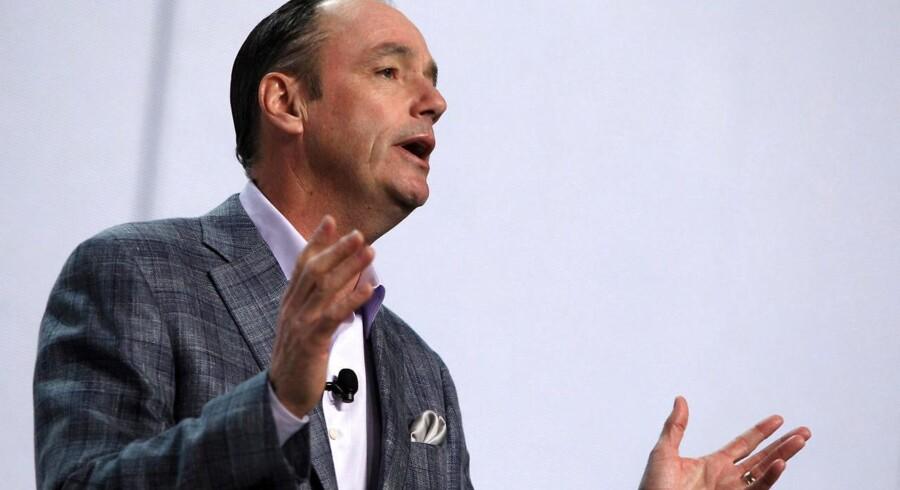Samsungs amerikanske topchef, Tim Baxter, lover, at mobilgiganten aldrig fremover vil ende i en situation som efterårets milliarddyre tilbagetrækning af en toptelefon. Foto: Steve Marcus, Reuters/Scanpix